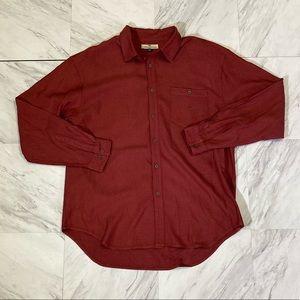 Tommy Bahama maroon 100% silk button up shirt